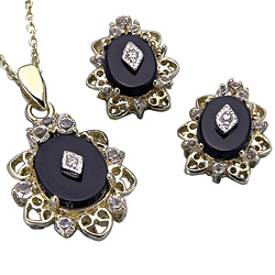 Starry Night Necklace And Earrings