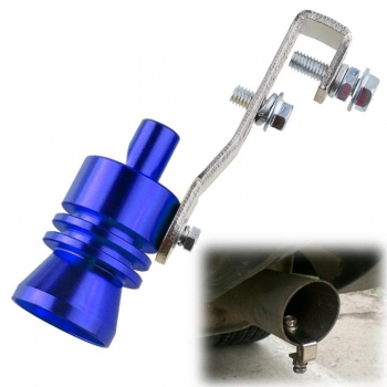 New Universal Blue Car Turbo Sound Whistle Exhaust Muffler Pipe Simulator Whistler