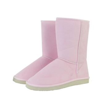 Pink Unisex Winter Warm Snow Half Shoes Boots