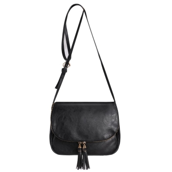 Solid Color Tassel Cross Body Message Bag