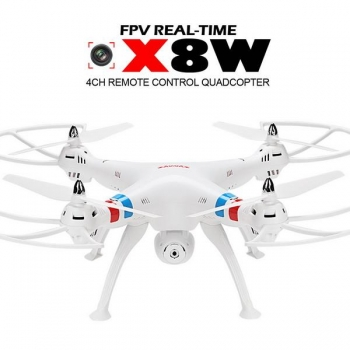 Syma X8W Drone WiFi Real-time FPV RC Quadcopter 4CH 6Axis Gyro 2.4G 2MP Camera White EU Plug