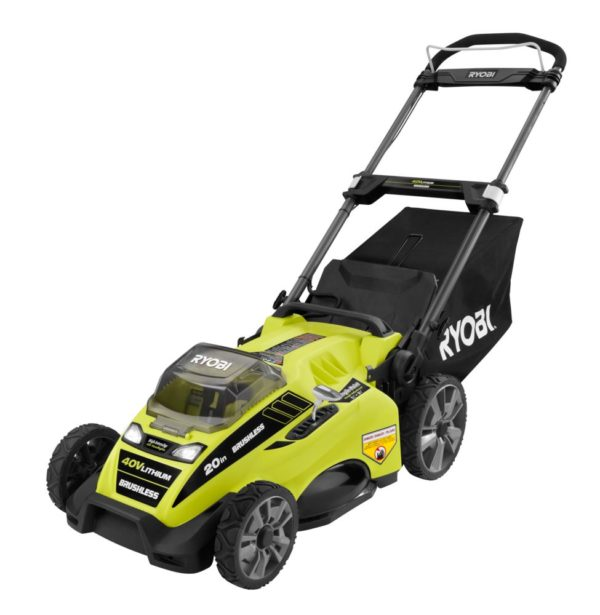 RYOBI 20-inch 40V Brushless Li-Ion Cordless Battery Push Lawn Mower