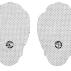 Pair of Snap-On White Large Hand-Shaped Pads for HealthmateForever TENS units