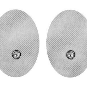 Pair of Snap-on White Small Oval-Shaped Pads for HealthmateForever TENS units