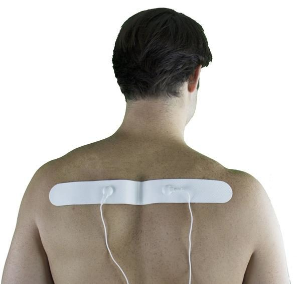 Snap-On White Long Pad for HealthmateForever TENS units Muscle Stimulators